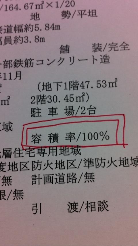 容積率(ようせきりつ)