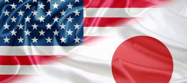 日本とアメリカの国旗