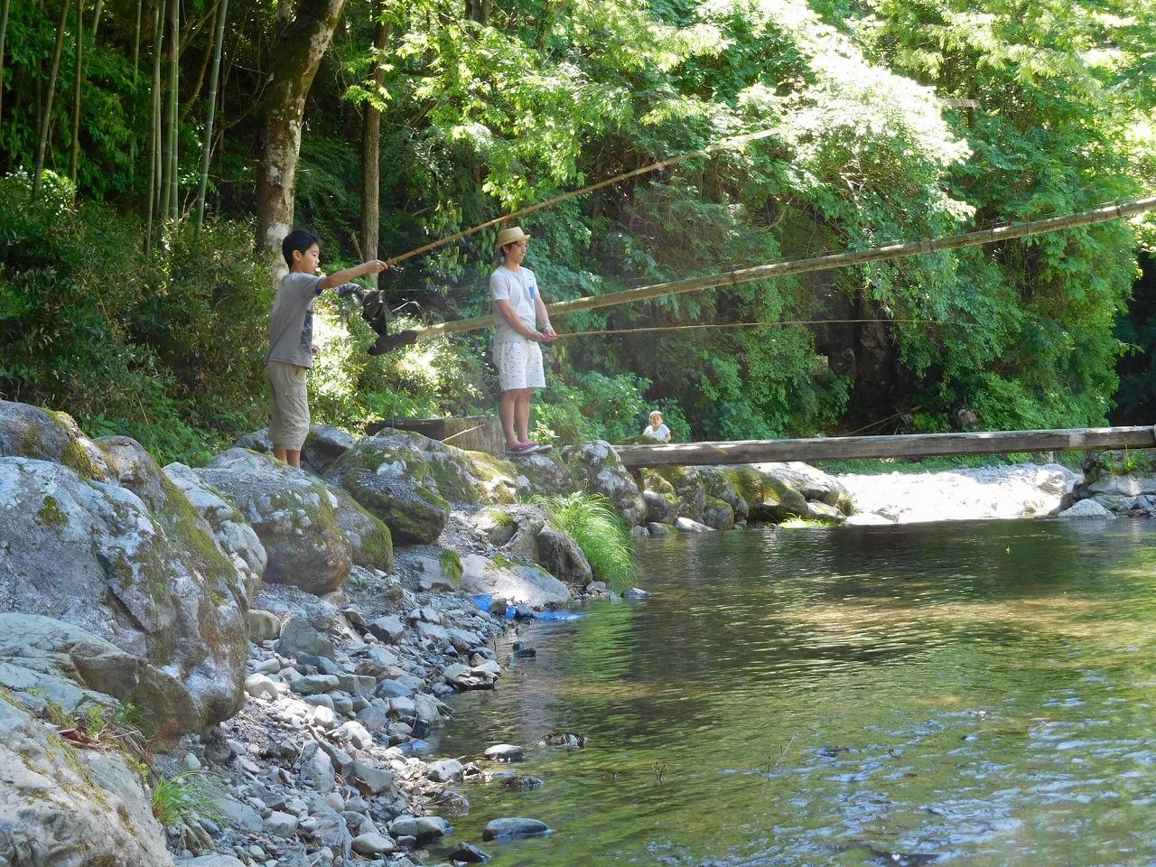 奥多摩の大丹波川国際虹ます釣り場へ行った日曜日